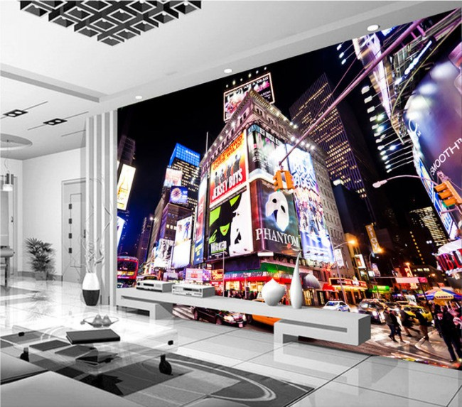 New York tapet times square fototapet stad