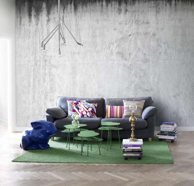 Betongtapet vardagsrum tapet grå fototapet betongvägg
