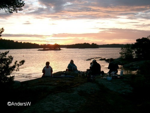 Kvällsutsikt vid Lilla Brändö