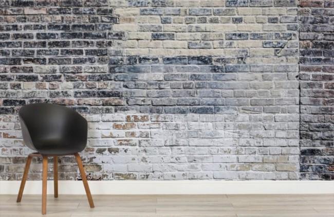Tegeltapet svart tegelmur tegelvägg tapet tegelsten