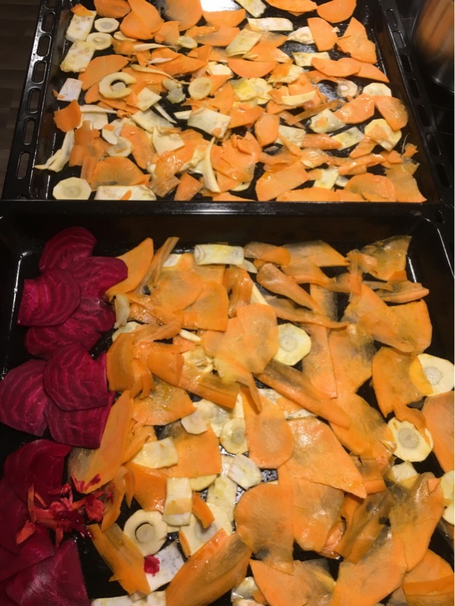 AIP-chips - Rotfruktschips - Sötpotatischips -Paleo