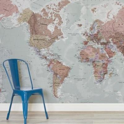 tapet världskarta fototapet fondvägg