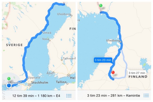 Efter nästan 150 mil var vi framme i Nivala Finland