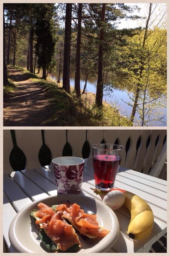 I slutet på april utökade jag mina minipromisar till hela 2km. Tjoho! Belönas med god fika ;)