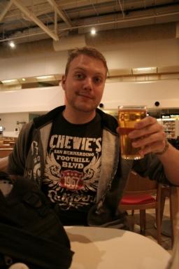 En öl på Landvetter. Äntligen!