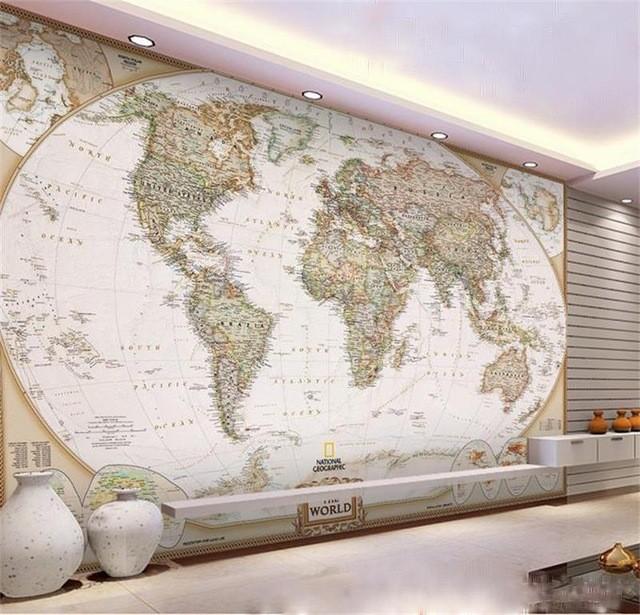 världskarta tapet vardagsrum fototapet fondvägg
