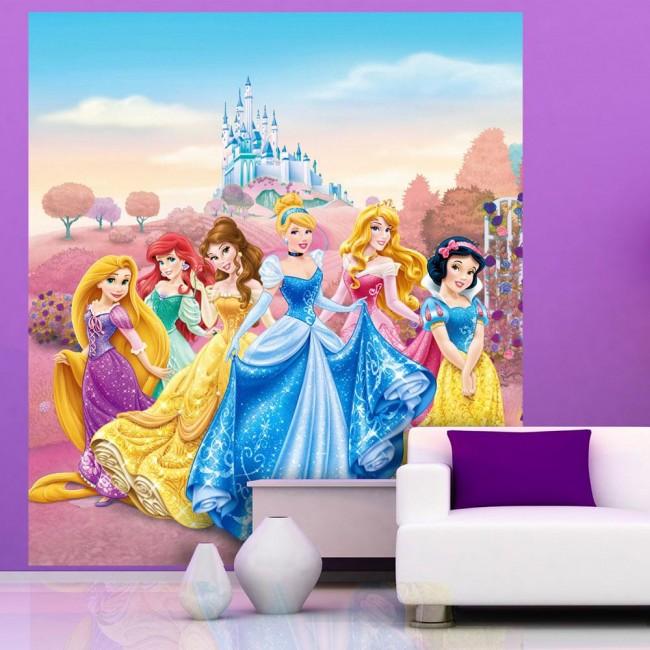disney tapet prinsessor barn flickrum tjejrum fondvägg