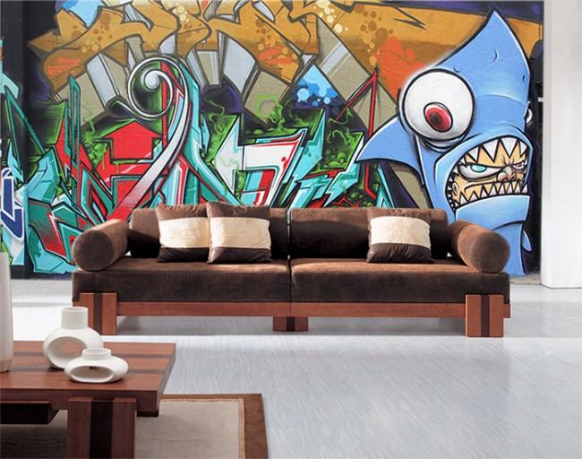 ungdomstapet graffiti tapet ungdomsrum fototapet fondvägg