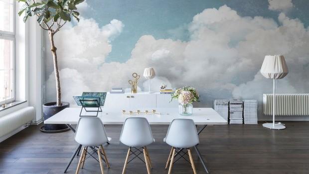moln tapet himmel fototapet vardagsrum