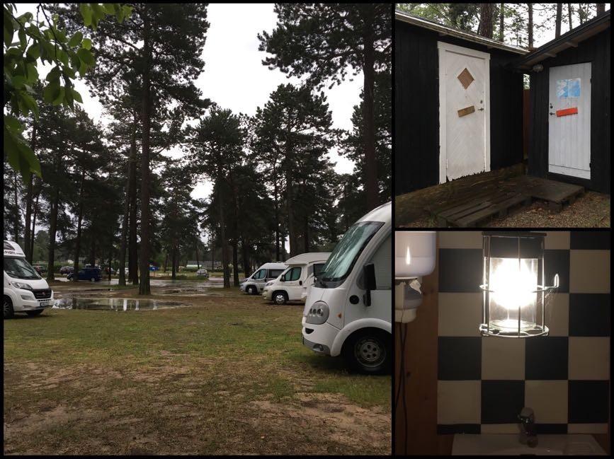 Ställplatsen i Åhus var liten, enkel, omodern och mysig. Husbilsliv