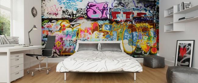 Graffiti tapet Graffiti Ungdomsrum Ungdomstapet Sovrum
