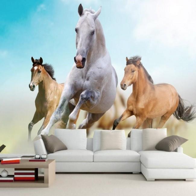 häst tapet tjejrum fototapet hästar tjejtapet ungdomstapet