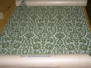 grön blommedaljong