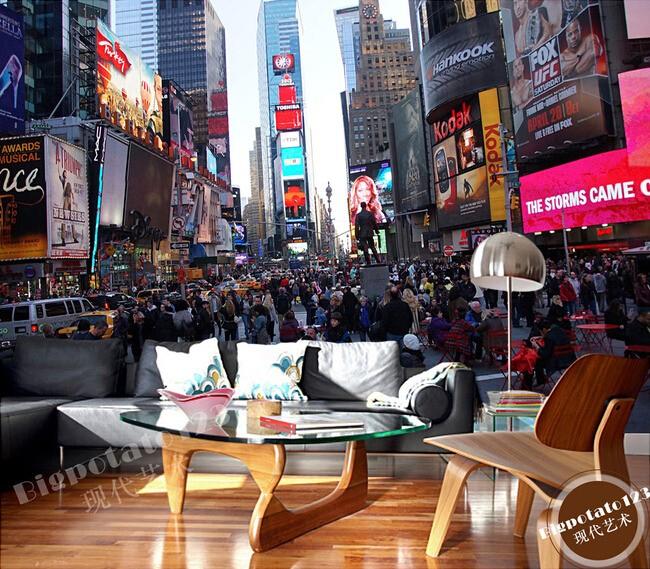 new york tapet times square fototapet stad vardagsrum fondvägg