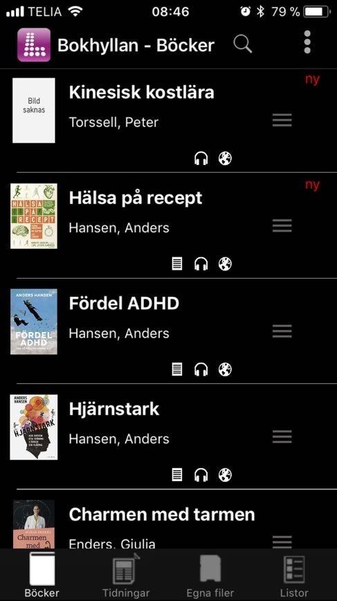 Legimus Bokhylla Hjärnstark Anders Hansen