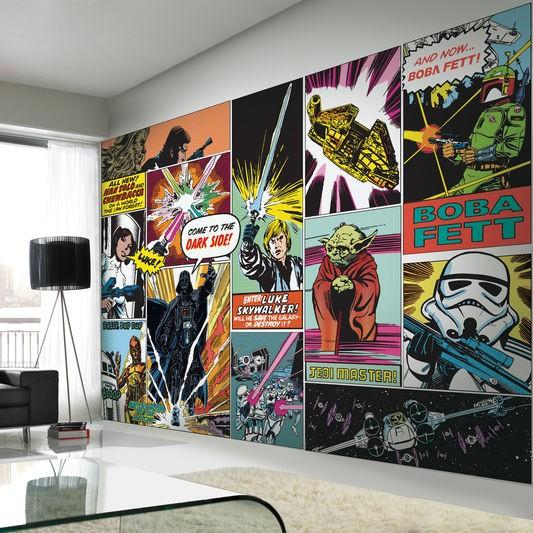 Star wars tapet ungdomsrum comics killrum fototapet serie