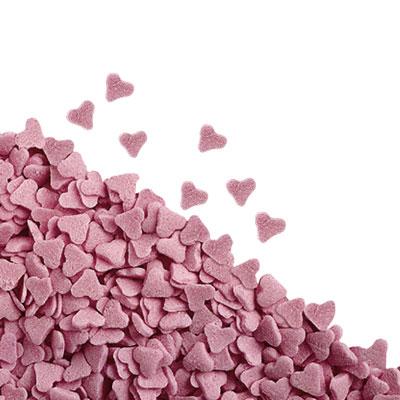 rosa hjärtan