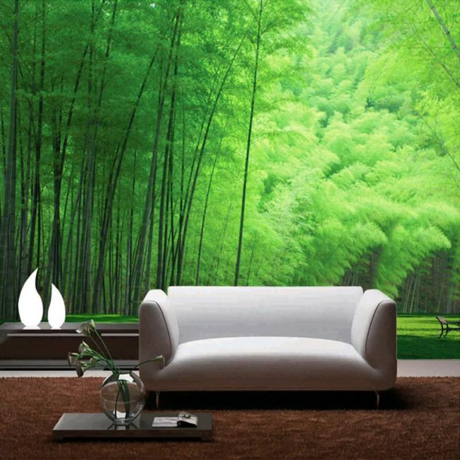 tapet bambu skog fototapet vardagsrum