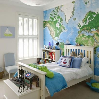 Världskarta Tapet barn rum fototapet världskarta killrum