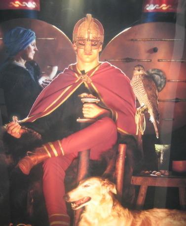 Kung i röd mantel