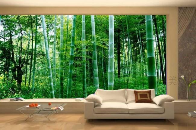 tapet skog bambu fototapet vardagsrum fondtapet