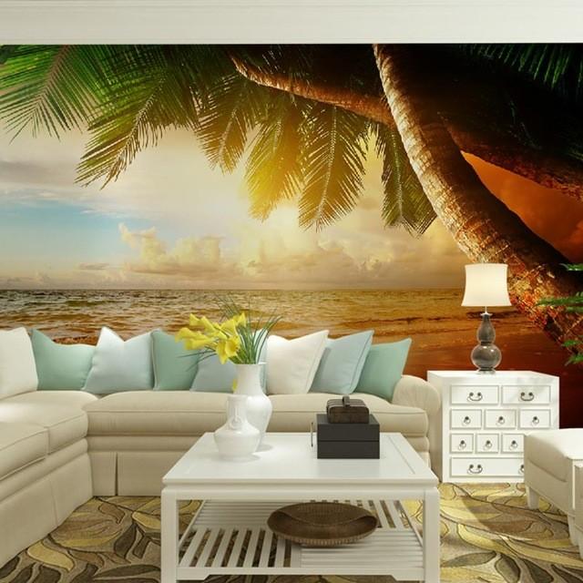 tapet landskap fototapet natur tapet tropisk hav palm