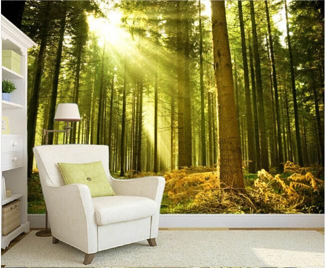 natur tapet skog fototapet träd tapet trädstammar