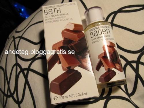 Vanilj och Kakao badolja 169 kr ..man luktar som en nybakad mufins