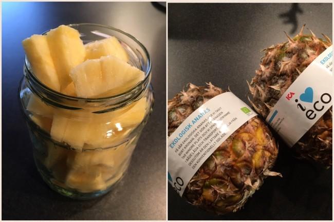 Bromelain finns i ekologisk ananas