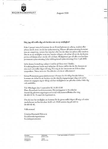 Husmark är Sveriges nuvarande SocilaFörsäkringsMinister...