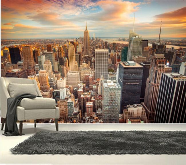 3d tapet new york utsikt fototapet fondvägg stad